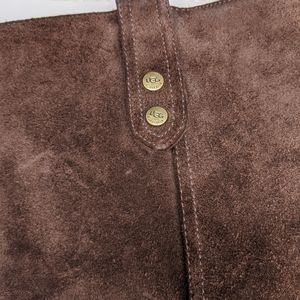 UGG Shoes - UGG Brown Suede Chunky Heel Tall Boots